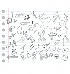 arrow doodles vector image