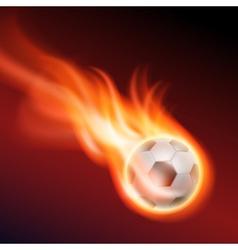 Burning soccer ball vector image vector image