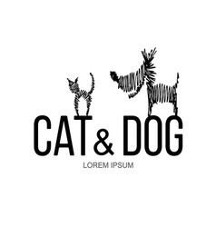 Cat and Dog logo vector image vector image