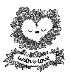 Doodle Heart for Valentines day vector image vector image
