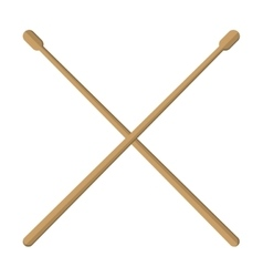 Pair of drumsticks icon vector