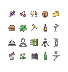 Wine Making Drink Icon Set vector image vector image