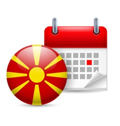 Icon of national day in macedonia vector
