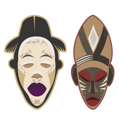 african-masks-1-3 vector image