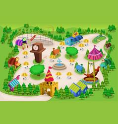 amusement park map vector image