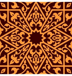 Arabian eastern seamless ornament vector image