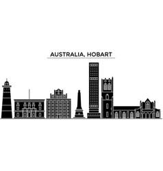 Australia hobart architecture city skyline vector