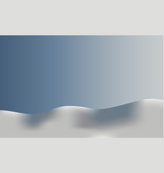 background landscape in snow vector image