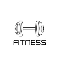 barbell design template vector image vector image