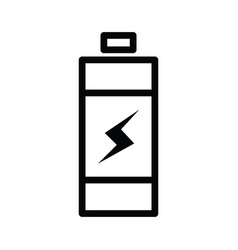 battery icon single outline line style with vector image