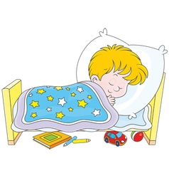 Boy sleeping vector