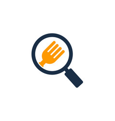 Browse food logo icon design vector