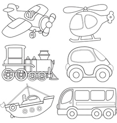 Cartoon transport vector
