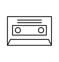 Cassette music old fashion vector