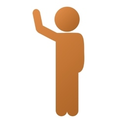Child Hitchhike Gradient Icon vector image