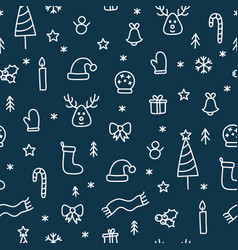 Christmas doodle things seamless cute pattern vector