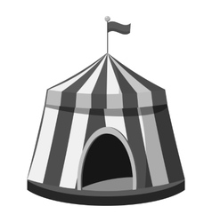 Circus tent icon gray monochrome style vector