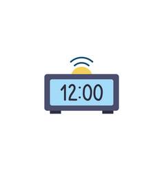 Clock digital flat style icon vector