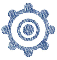 cog wheel fabric textured icon vector image