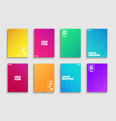 collection creative colorful trendy striped vector image
