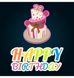 Colorful Happy Birthday Greeting Card vector