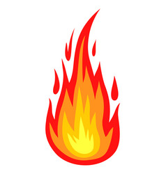 Colors fire icon vector