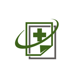 digital health document vector image