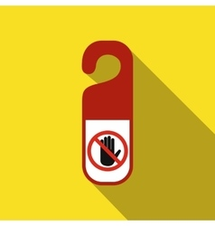 Do not disturb door hangers flat icon vector image