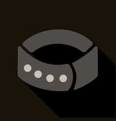 Dog collar icon in cartoon style for web vector