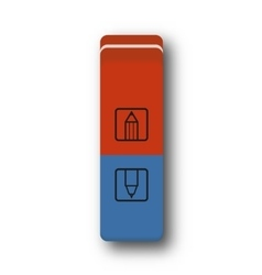 eraser red and blue vector image