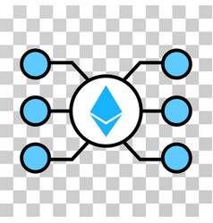 Ethereum crystal masternode links icon vector
