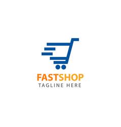 Fast shop logo template design vector