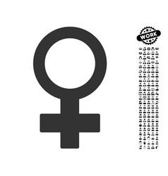 female symbol icon with men bonus vector image