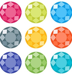 Flat gems icons set vector image