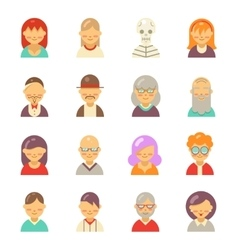 Flat people icons for app user avatar face Man vector