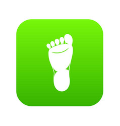 foot left leg icon digital green vector image