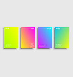 Four-gradient-brochure vector