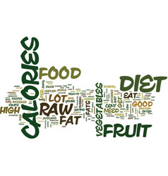 Fruit or fat text background word cloud concept vector