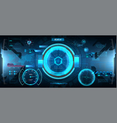 futuristic head-up display in hud style vector image