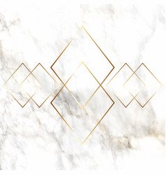 Gold diamond pattern on marble texture vector