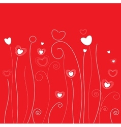 Grass pattern valentine day vector