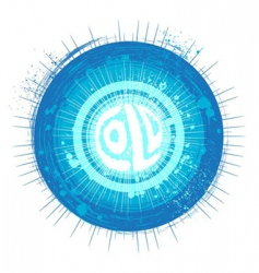 grunge cold background vector image