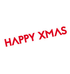 Happy xmas rubber stamp vector