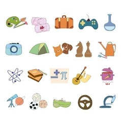 Hobby Icons set vector