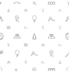 holiday icons pattern seamless white background vector image