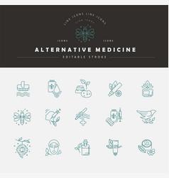 icon and logo for alternative medicine vector image