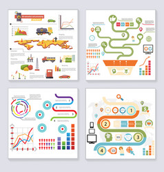 Infographics elements symbols and icons retro vector