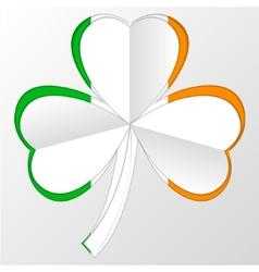 Irish flag and symbol combination on white vector