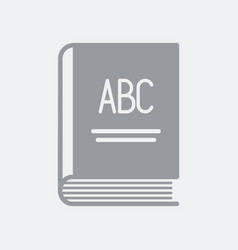 learning book abc vector image