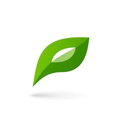 Letter p eco leaves logo icon design template vector